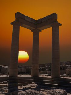 Learn from Archaeologous guide while at Lindos, Rhodes, Greece